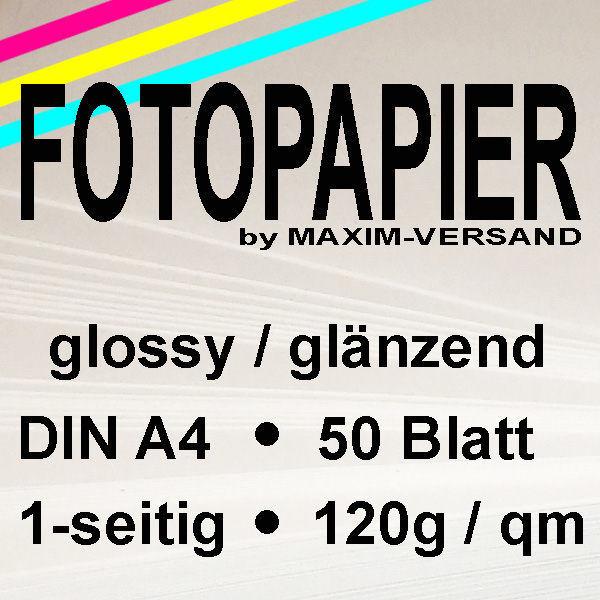 MAXIM Fotopapier - 120g/m² - A4 - 1-seitig - glänzend - 50 Blatt