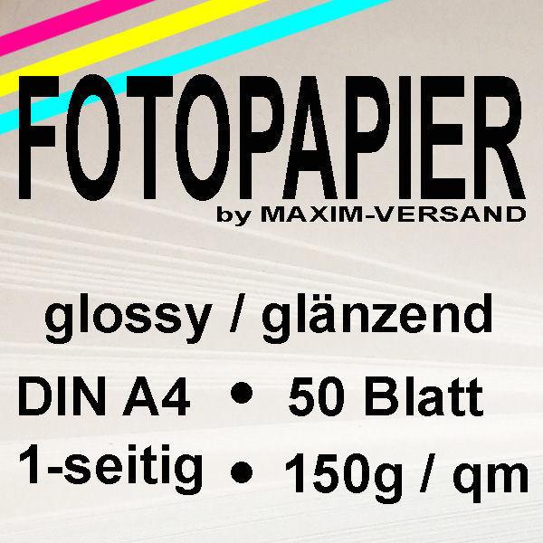 MAXIM Fotopapier - 150g/m² - A4 - 1-seitig - glänzend - 50 Blatt