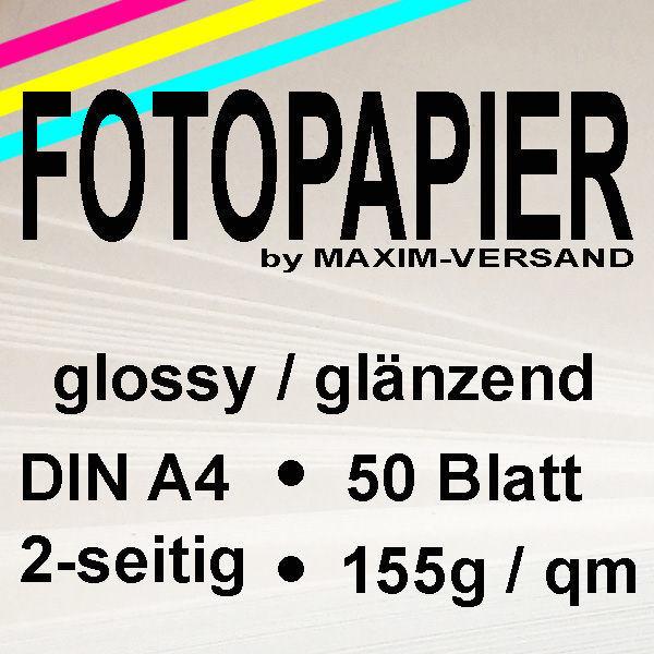 MAXIM Fotopapier - 155g/m² - A4 - 2-seitig - glänzend - 50 Blatt