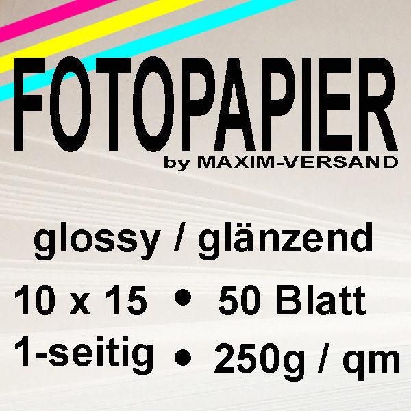 PRINTASTIC® Fotocards - glänzend - 250g/m² - 10 x 15 cm - 50 Blatt