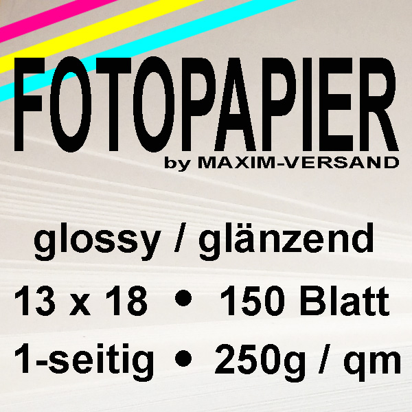 MAXIM Fotocards - 250g/m² - glänzend - glossy- 13x18 cm - 50 Blatt x 3