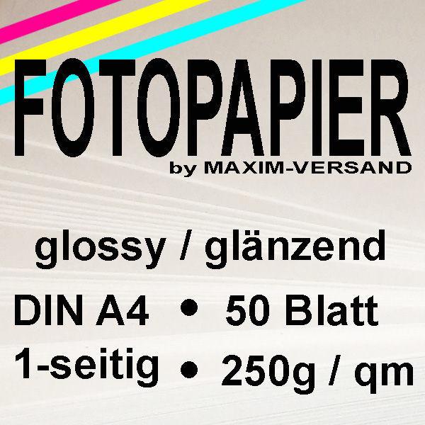 MAXIM Fotopapier - 250g/m² - A4 - 1-seitig - glänzend - 50 Blatt