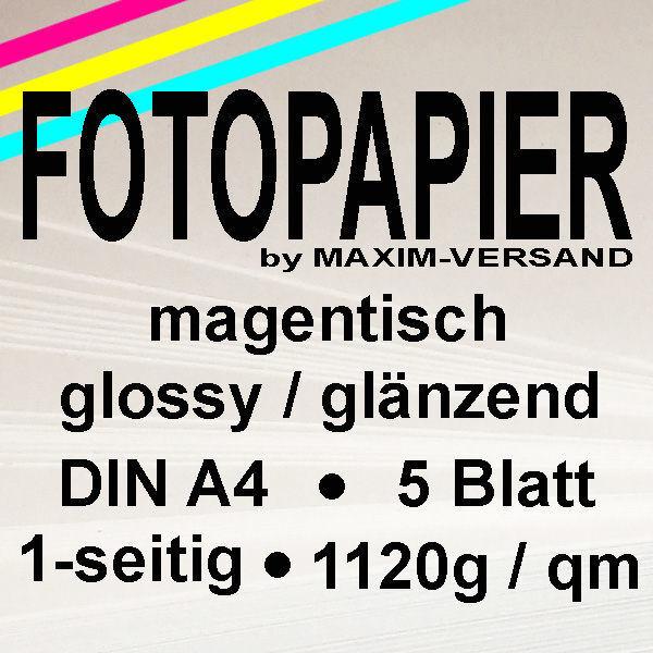 PRINTASTIC® Fotopapier - glänzend - MAGNETISCH A4 1-seitig 5 Blatt