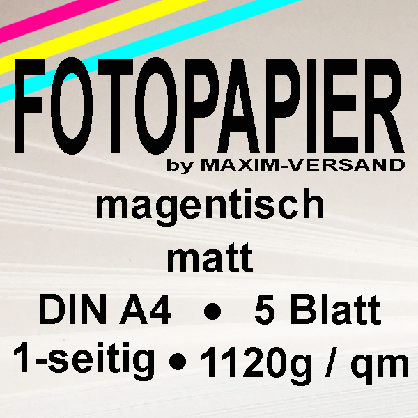 PRINTASTIC® Fotopapier - matt - MAGNETISCH A4 1-seitig 5 Blatt