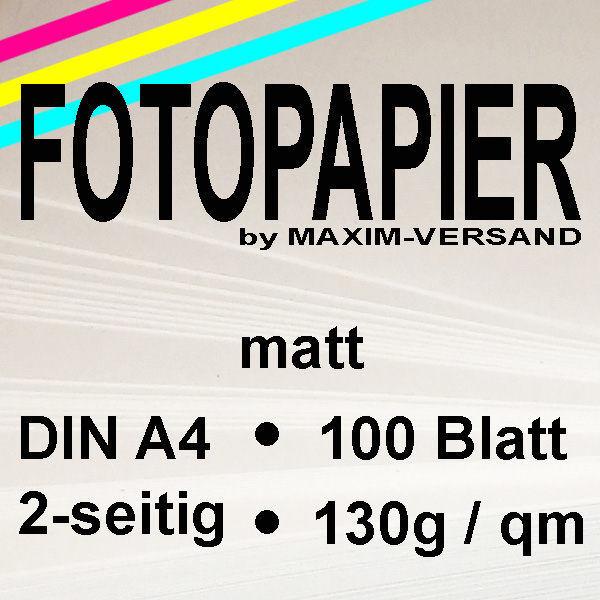 MAXIM Fotopapier - 130g/m² - A4 - 2-seitig - matt - 100 Blatt
