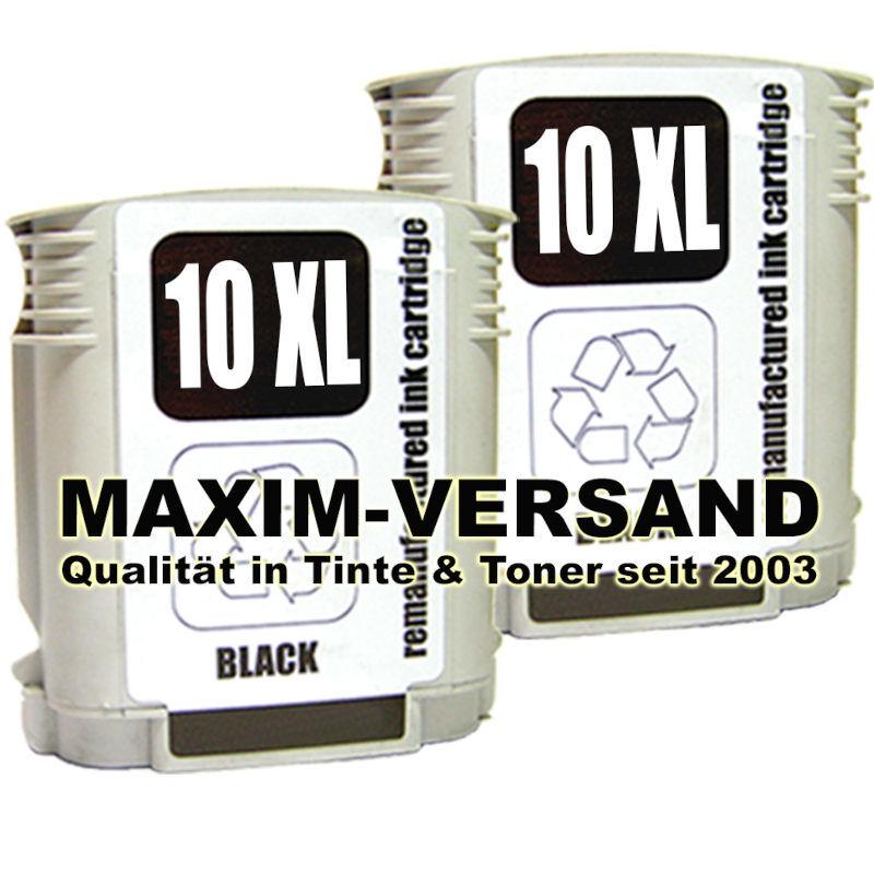 HP 10 schwarz / black x 2 - kompatibel