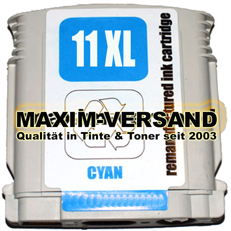 HP 11 - recycelt  - C4836A - 28 ml - blau / cyan