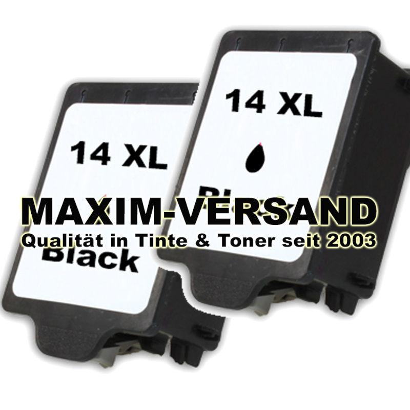 HP 14 - schwarz / black - kompatibel x 2
