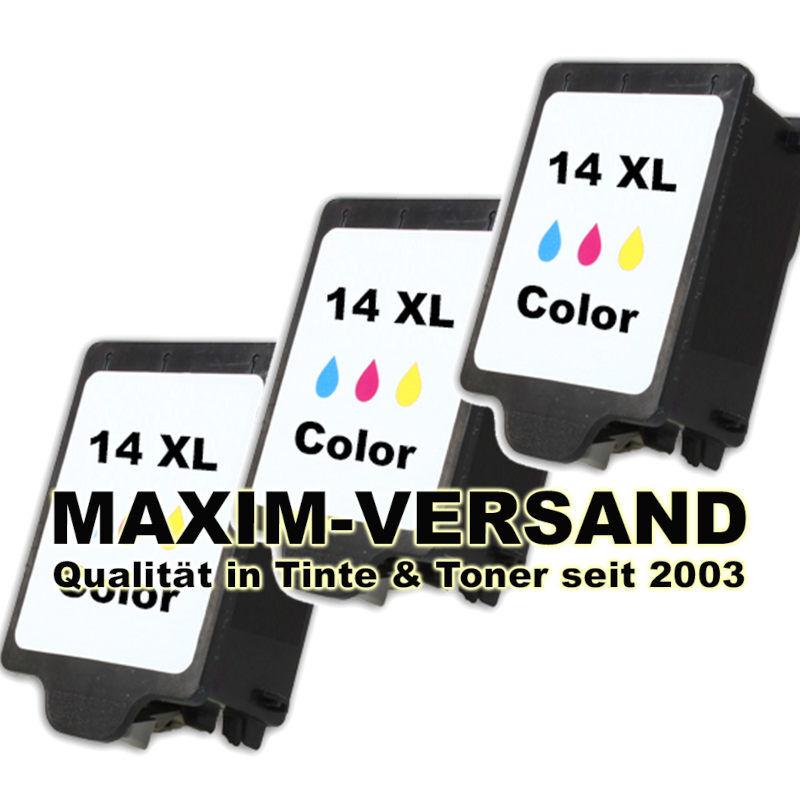 HP 14 - 3-farbig / tri-color - kompatibel x 3