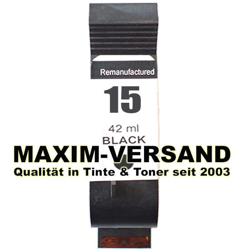 HP 15 - recycelt - C6615DE - 42 ml - schwarz / black