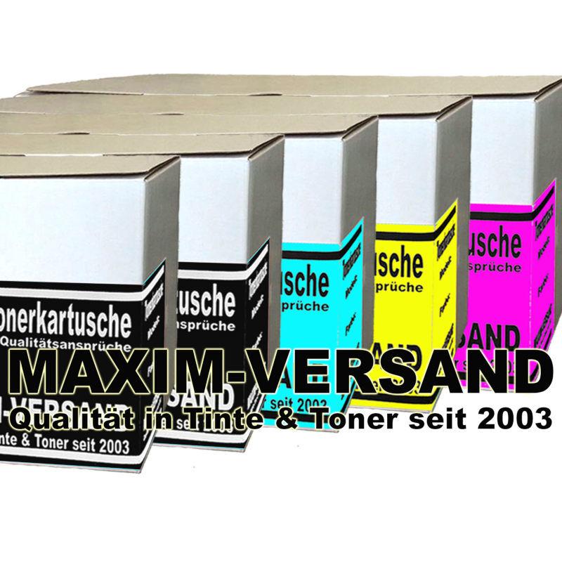 HP CF540X BK, CF541X C, CF542X Y, CF543X M - 203X Toner kompatibel (5er Set)