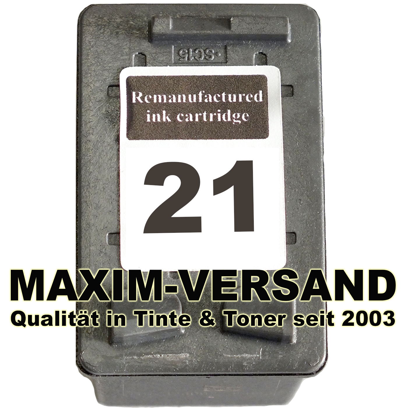 HP 21 - recycelt - C9351AE - 21 ml - schwarz / black