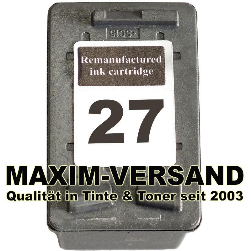 HP 27 - recycelt - C8727AE - 21 ml - schwarz / black