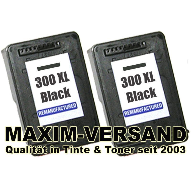 Druckerpatronen Set ersetzt HP 300 XL Schwarz / Black - kompatibel x 2