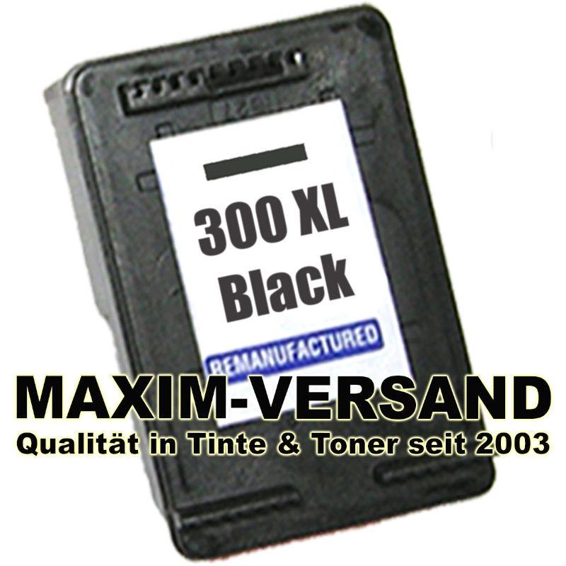 HP 300 XL - recycelt - CC641EE - schwarz / black