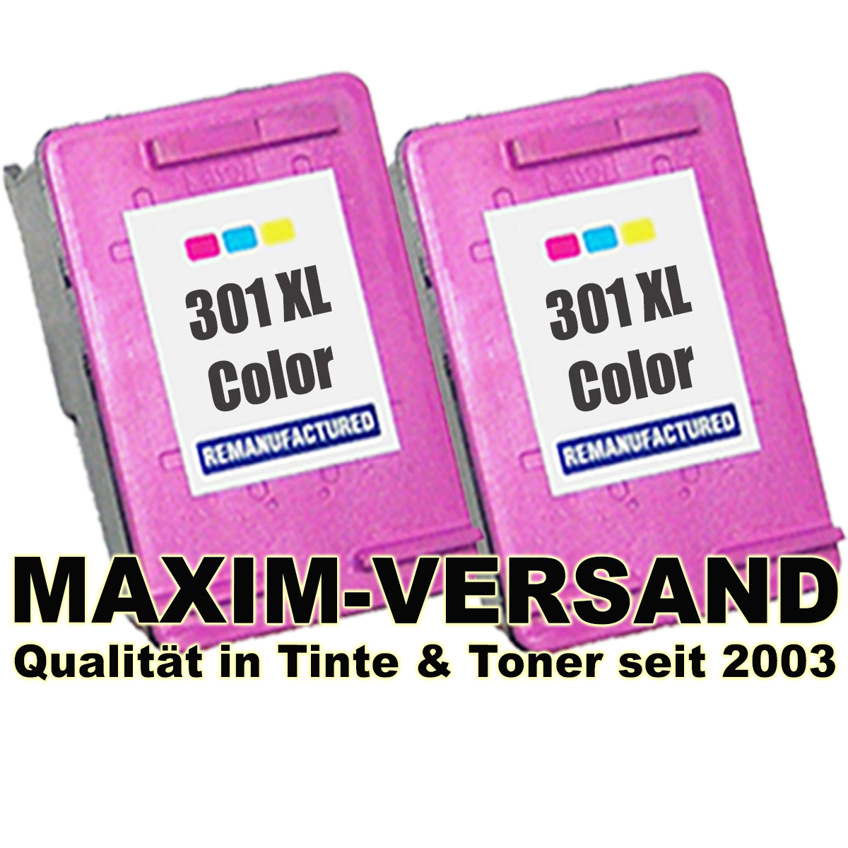 HP 301 XL - 3-farbig / tri-color - kompatibel x 2