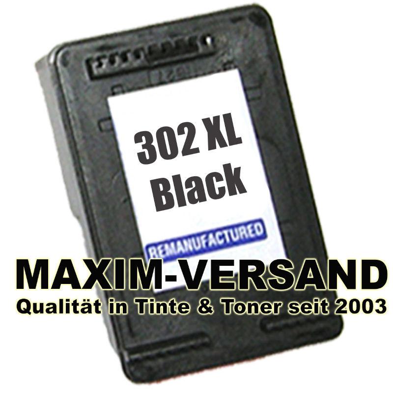 HP 302 XL - recycelt - F6U68AE - schwarz / black
