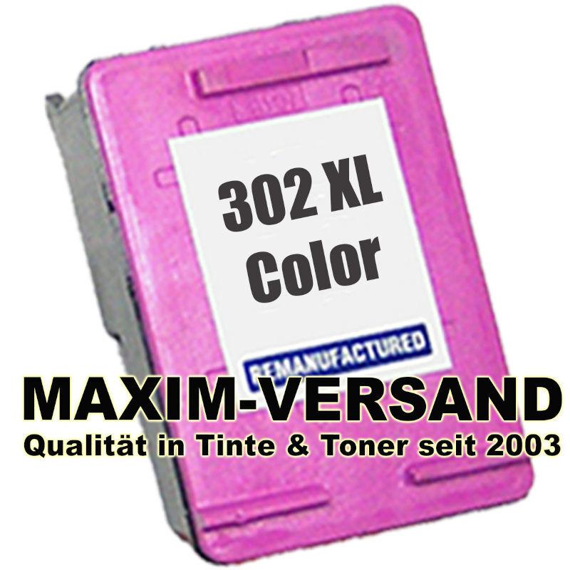 HP 302 XL - tri-color / 3-farbig - recycelt - F6U67AE - Druckerpatrone