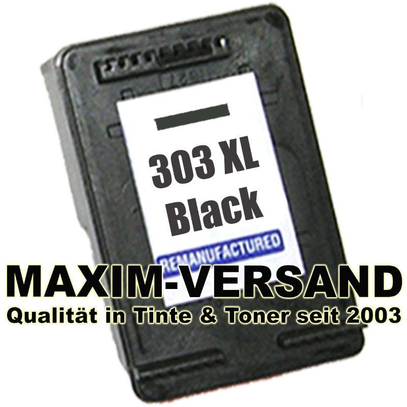 HP 303 XL - black / schwarz - recycelt - T6N04AE - Druckerpatrone