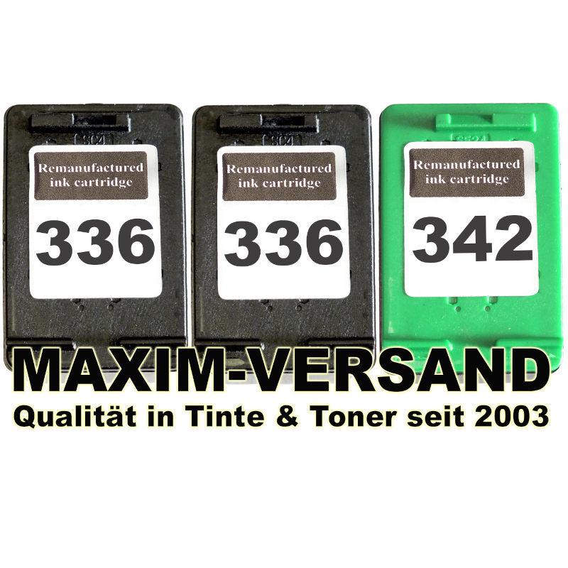 HP 336 x 2 + HP 342 kompatibel