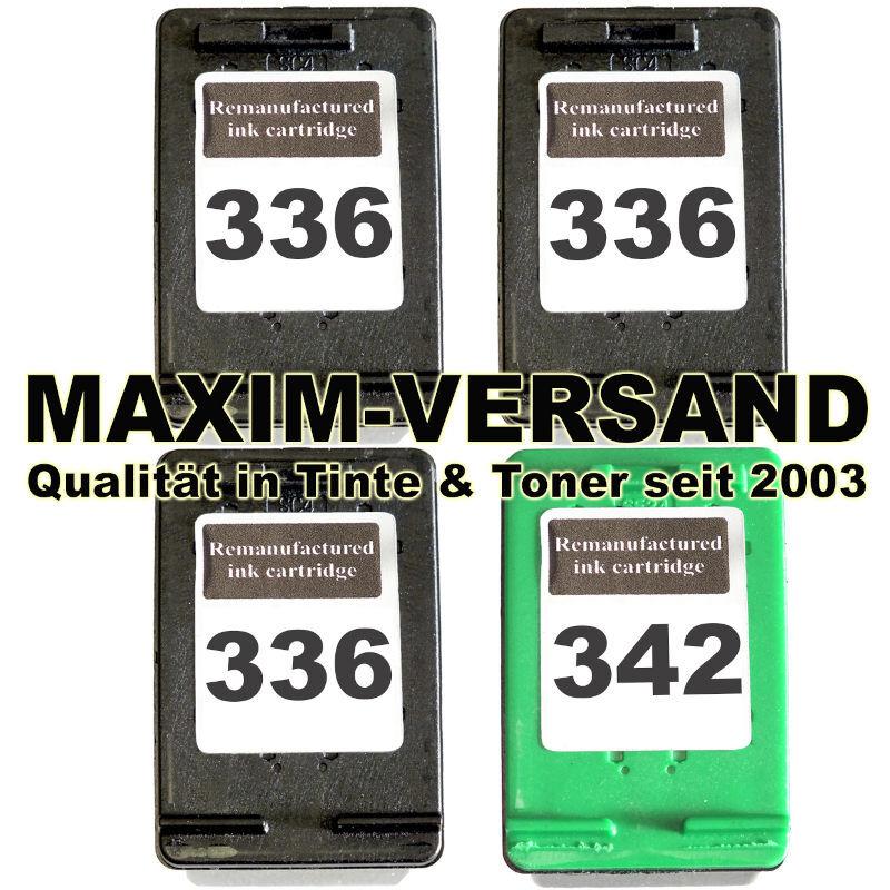 HP 336 x 3 + HP 342 kompatibel