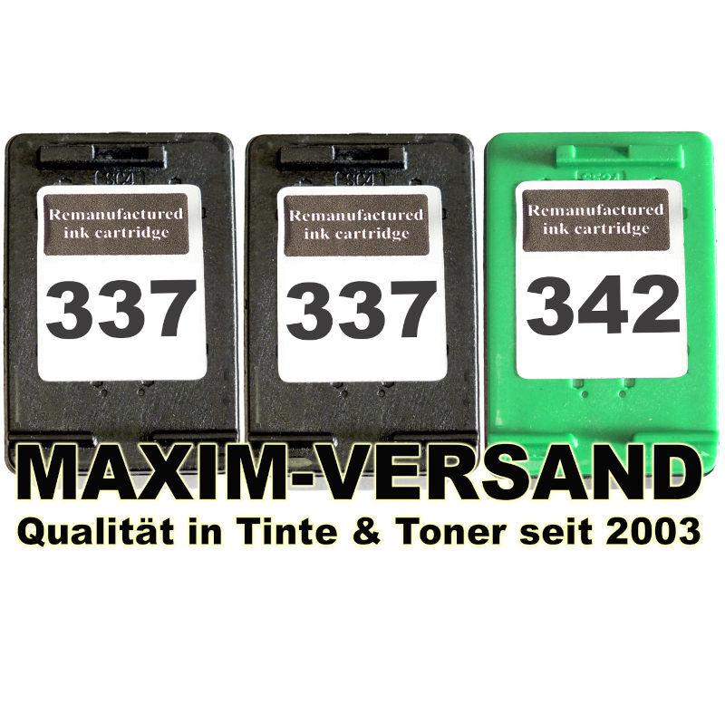 HP 337 x 2 + HP 342 kompatibel