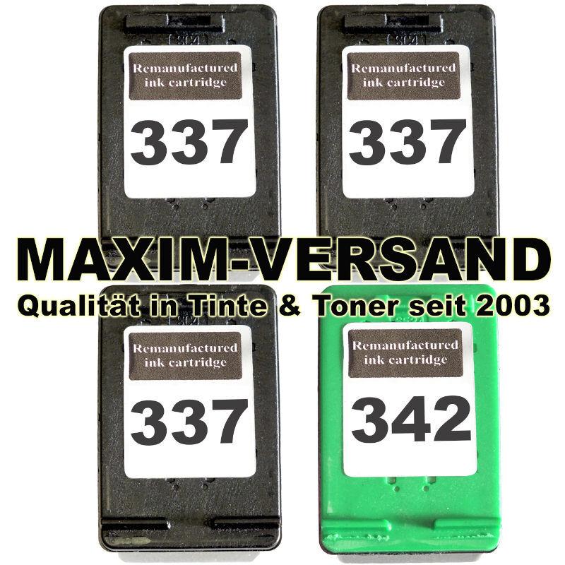 HP 337 x 3 + HP 342 kompatibel