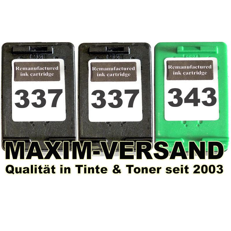 HP 337 x 2 + HP 343 kompatibel