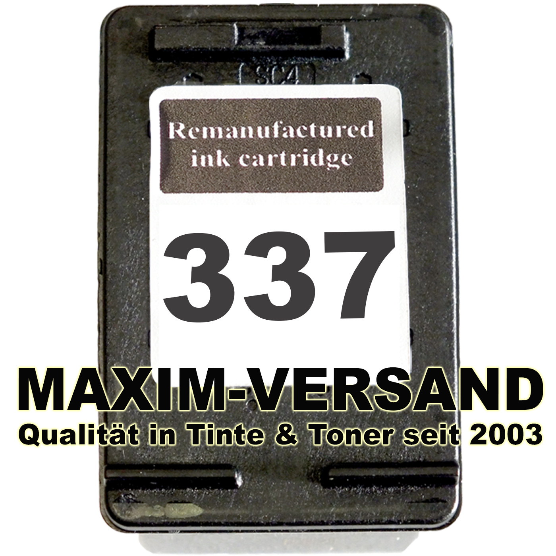 HP 337 - recycelt - C9364EE - 21 ml - schwarz / black