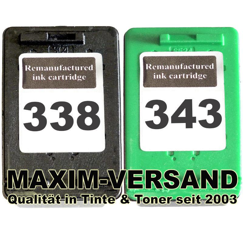 Druckerpatronen Set ersetzt Multipack HP 338 + HP 343 kompatibel