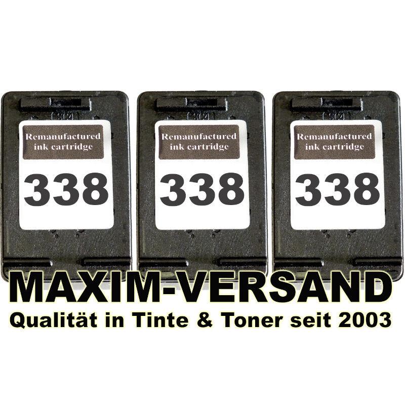 Druckerpatronen Set ersetzt Multipack HP 338 x 3 - kompatibel