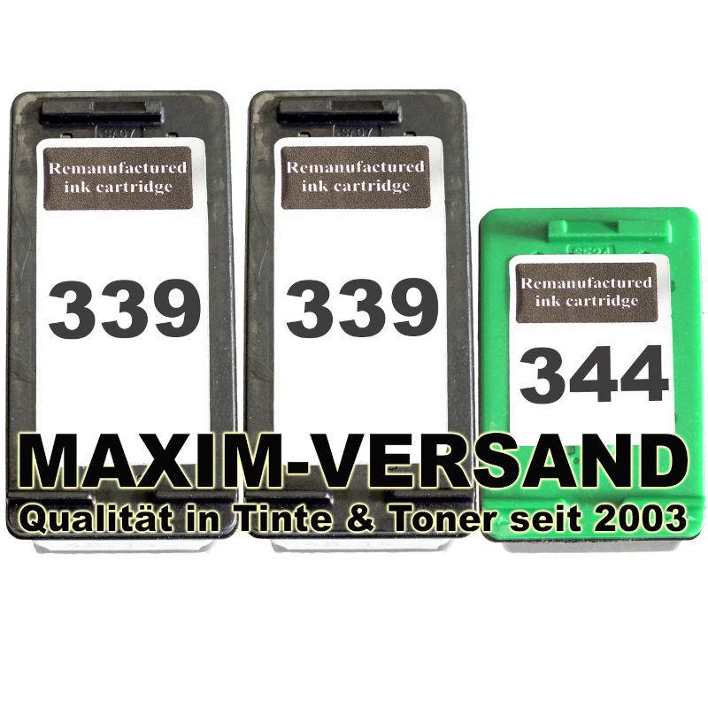 HP 339 x 2 + HP 344 kompatibel
