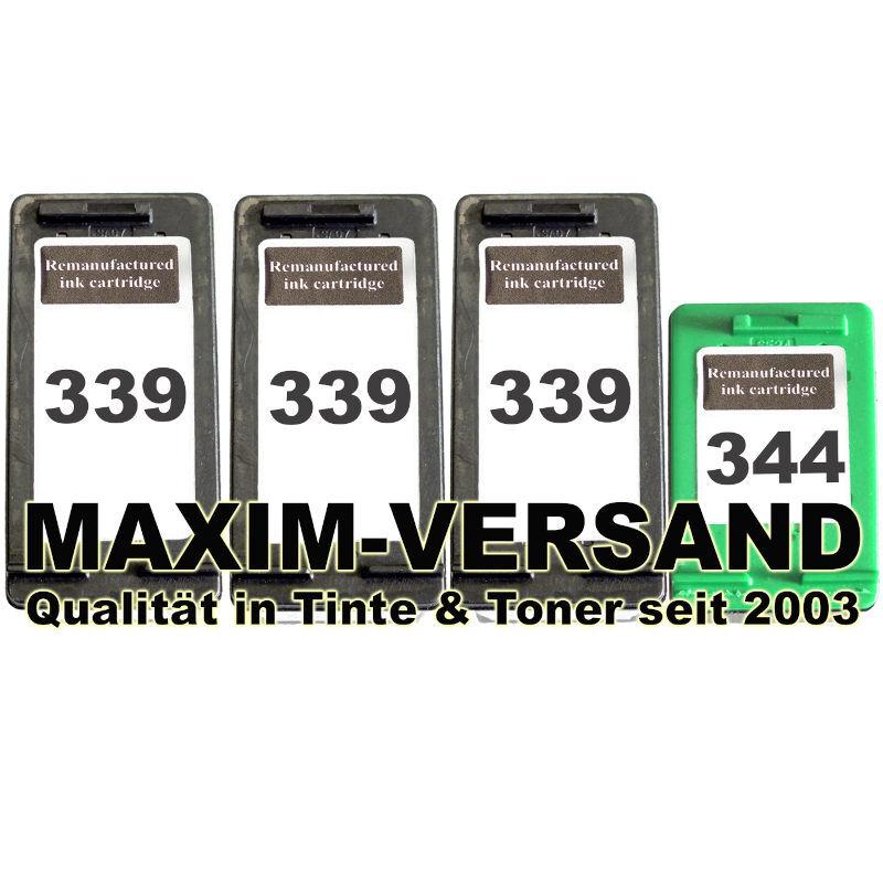 HP 339 x 3 + HP 344 kompatibel
