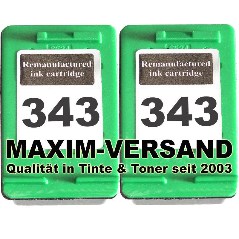 Druckerpatronen Set ersetzt Multipack HP 343 x 2 - kompatibel