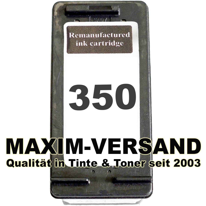 HP 350 XL - recycelt - CB336EE - schwarz / black