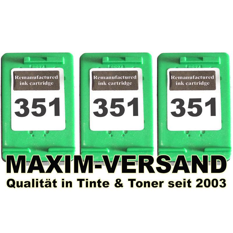 HP 351 XL x 3  kompatibel