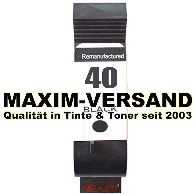 HP 40 - recycelt - 51640AE - 42 ml - schwarz / black
