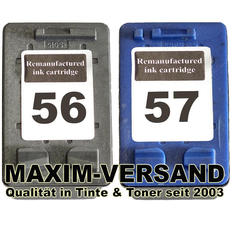 HP 56 Schwarz / Black + HP 57 Farbe / Color - kompatibel (2er Set)