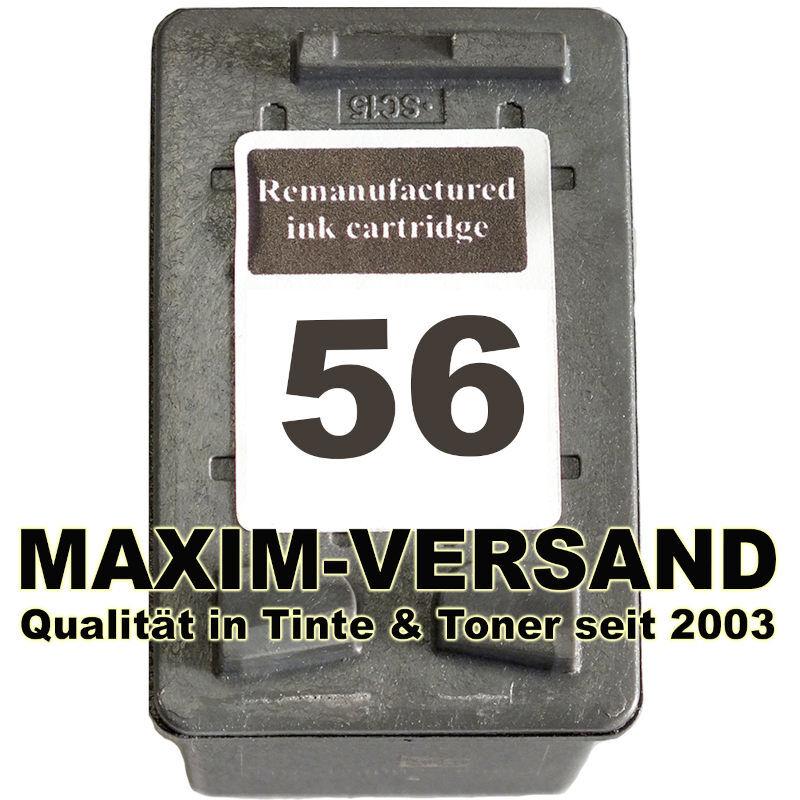 HP 56 - recycelt - C6656AE - 23 ml - schwarz / black