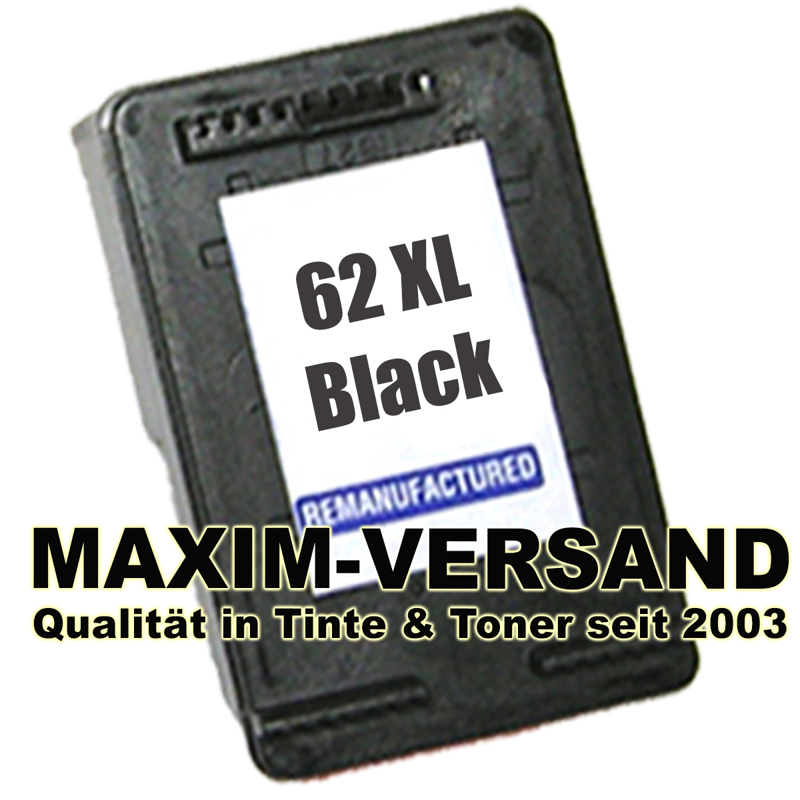 HP 62 XL - recycelt - C2P05AE - schwarz / black