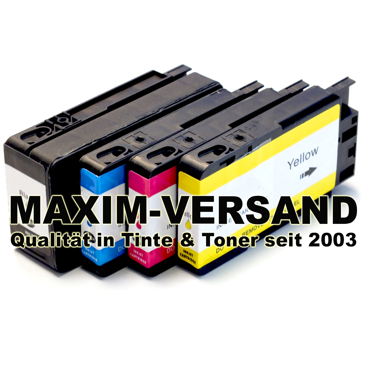 Patronen für HP 711 XL Black, Cyan, Yellow, Magenta - kompatibel - 4er Set