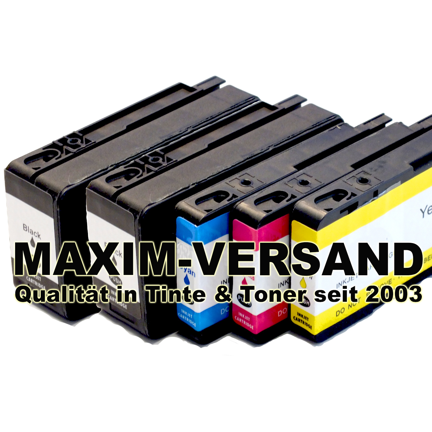 HP 711 XL Black, Cyan, Yellow, Magenta - alle Farben kompatibel - (5er Set)