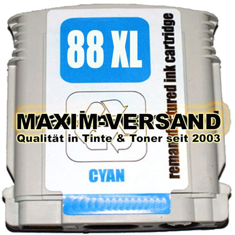 HP 88 XL - recycelt - cyan / blau