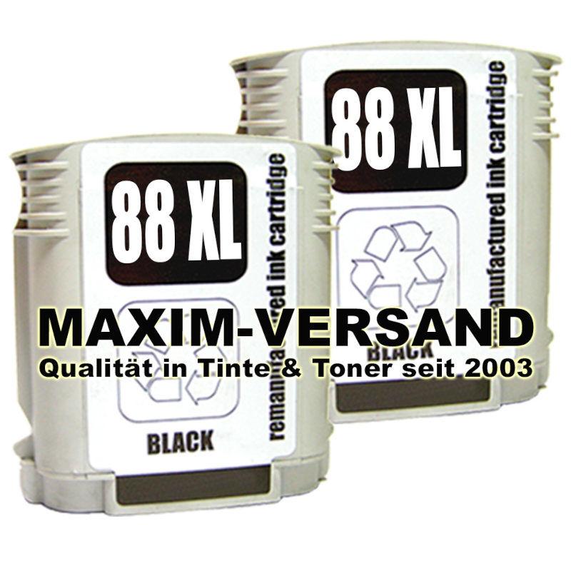 HP 88 XL schwarz x 2 kompatibel