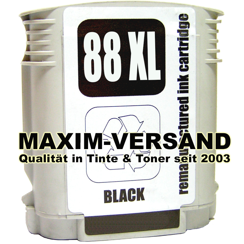 HP 88 XL - recycelt - schwarz / black