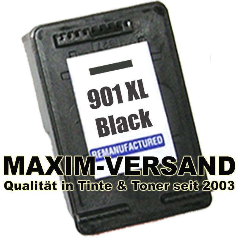 HP 901 XL recycelt - CC654AE - schwarz / black