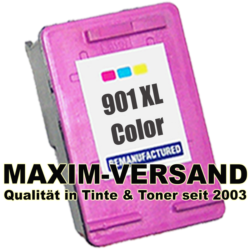 HP 901 XL recycelt - CC656AE - 3-farbig/color