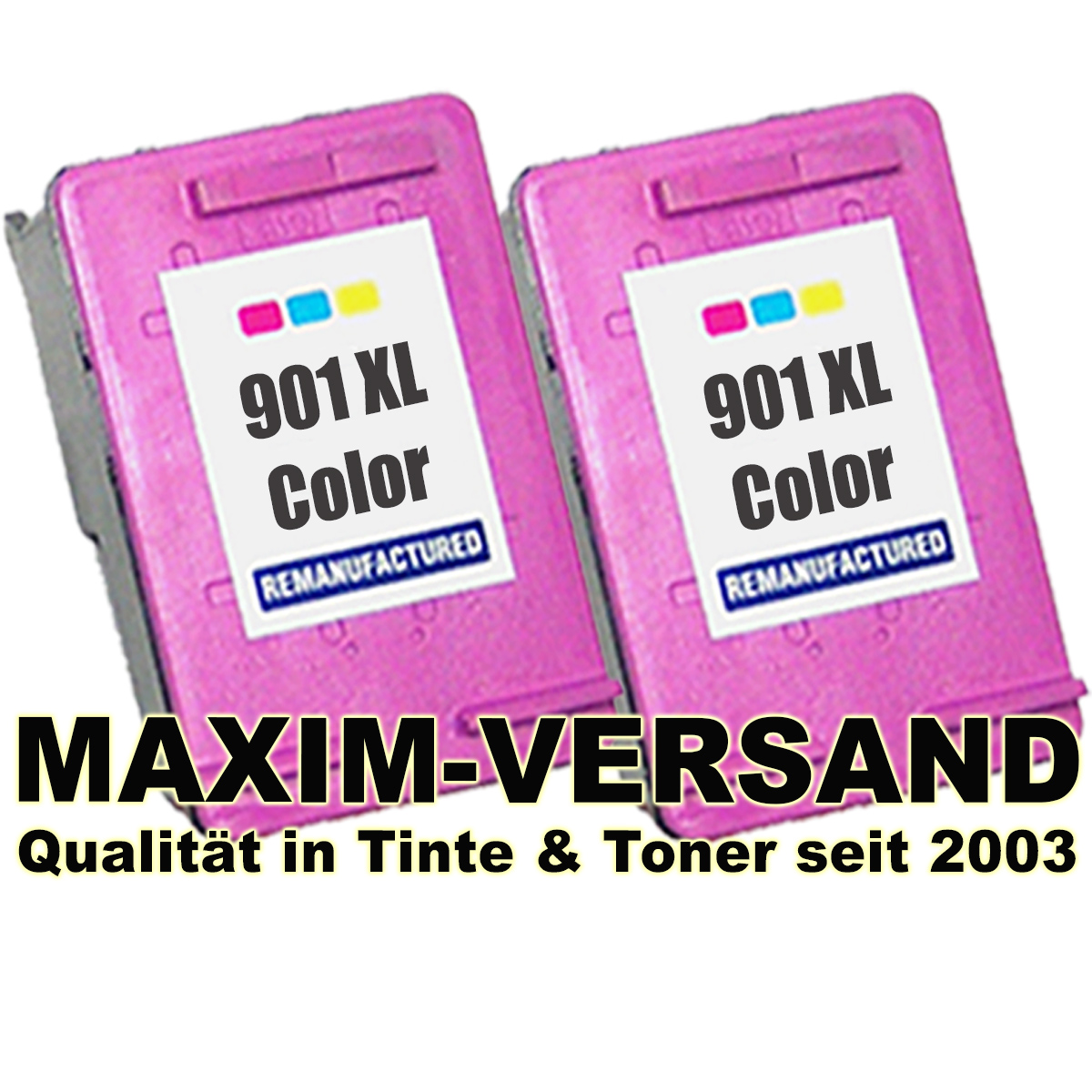 HP 901 XL 3-farbig / tri-color x 2 - kompatibel