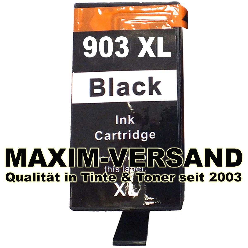 HP 903 XL - T6M15AE - recycelt - schwarz / black - 37 ml - mit Chip - min. V5