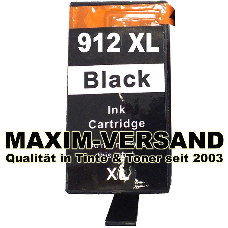 HP 912 XL - black / schwarz - kompatibel - Druckerpatrone mit Chip
